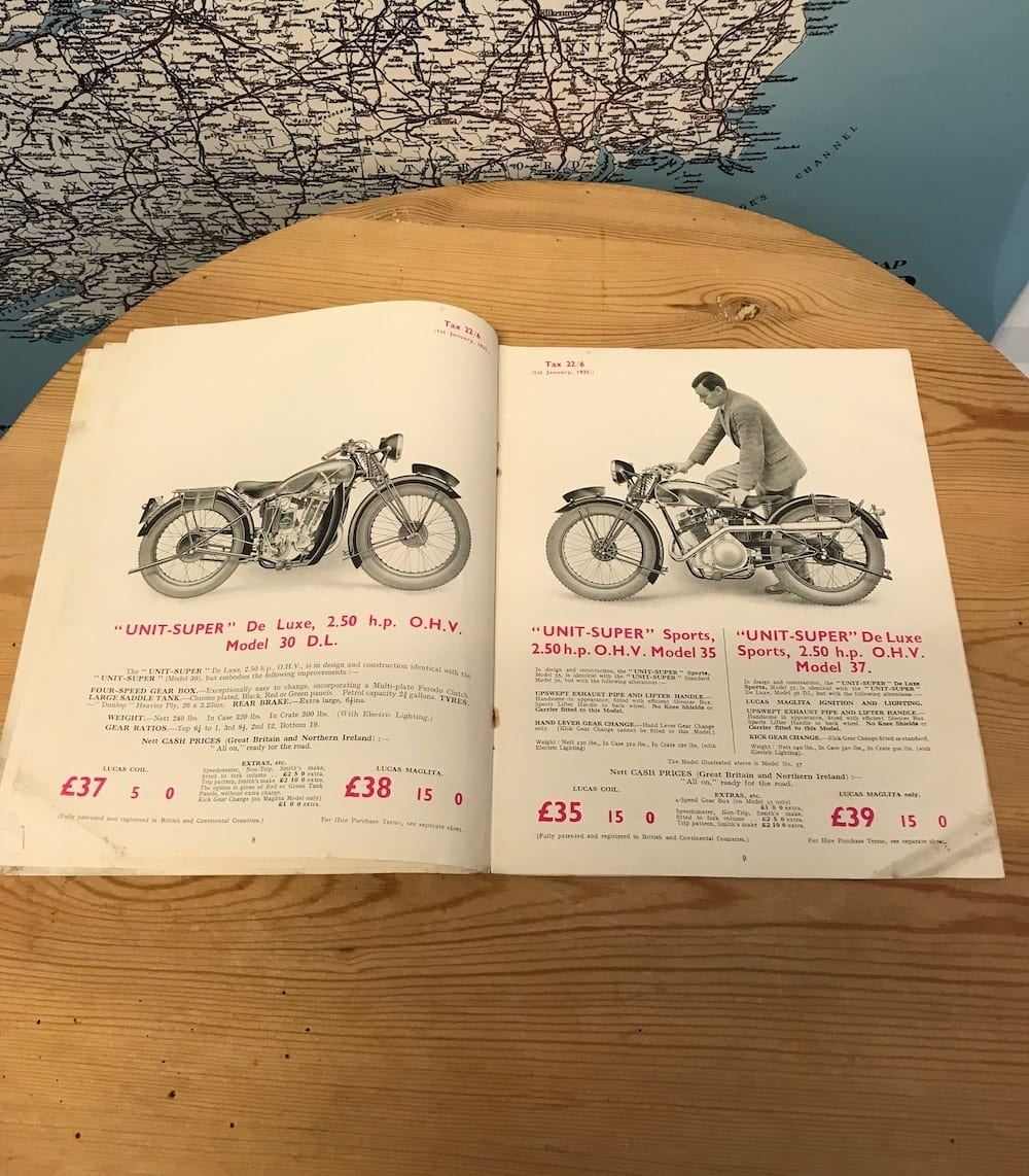 1935 NEW IMPERIAL MOTOR CYCLES CATALOGUE. - Vintage Motoring UK