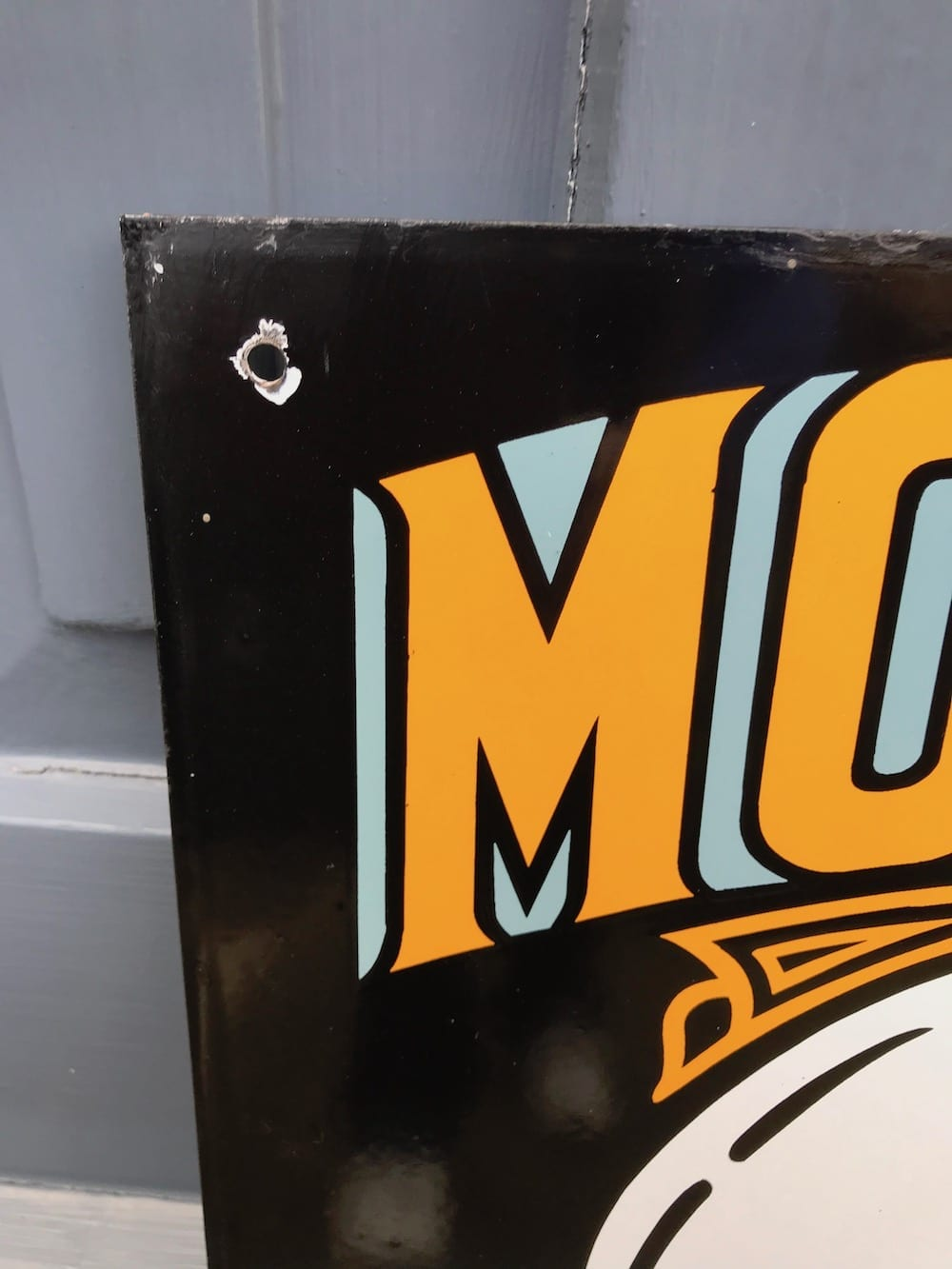 REPRODUCTION MORRIS SERVICE ENAMEL SIGN/ AVAILABLE...... - Vintage Motoring UK
