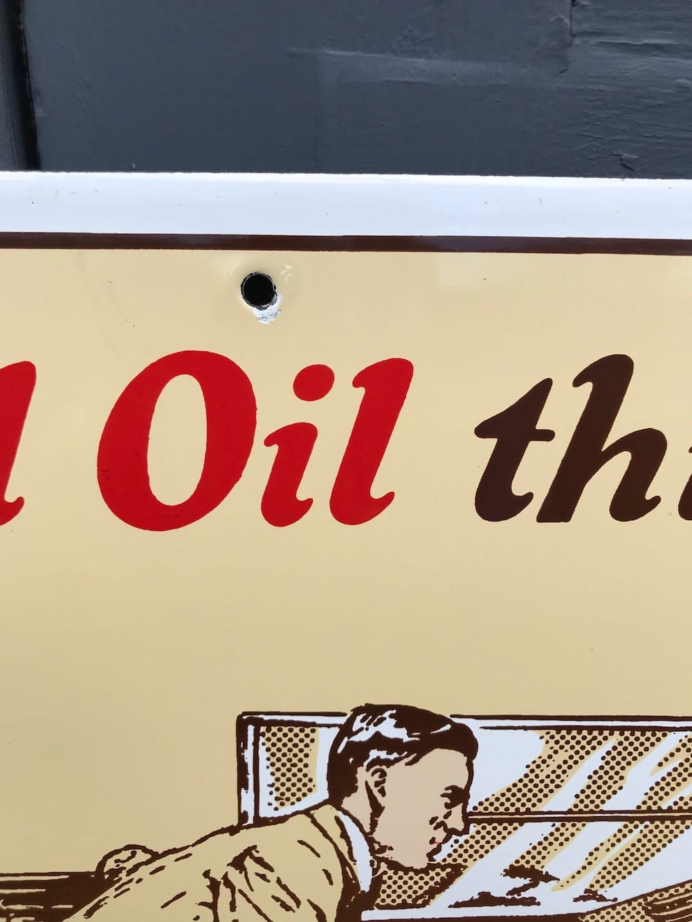 REPRODUCTION/ SHELL OIL ENAMEL SIGN/ AVAILABLE. - Vintage Motoring UK