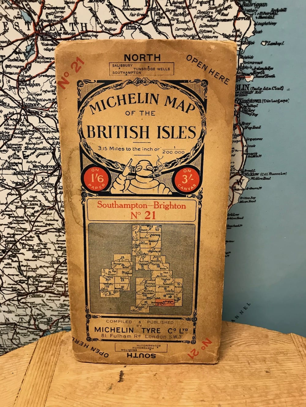 MICHELIN MAP OF THE BRITISH ISLES NO. 21. - Vintage Motoring UK