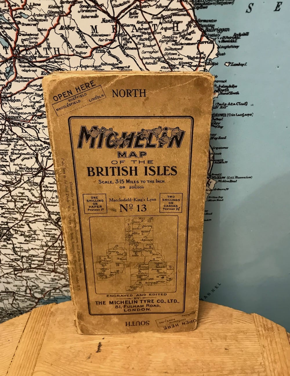 MICHELIN MAPS OF THE BRITISH ISLES No.13. - Vintage Motoring UK