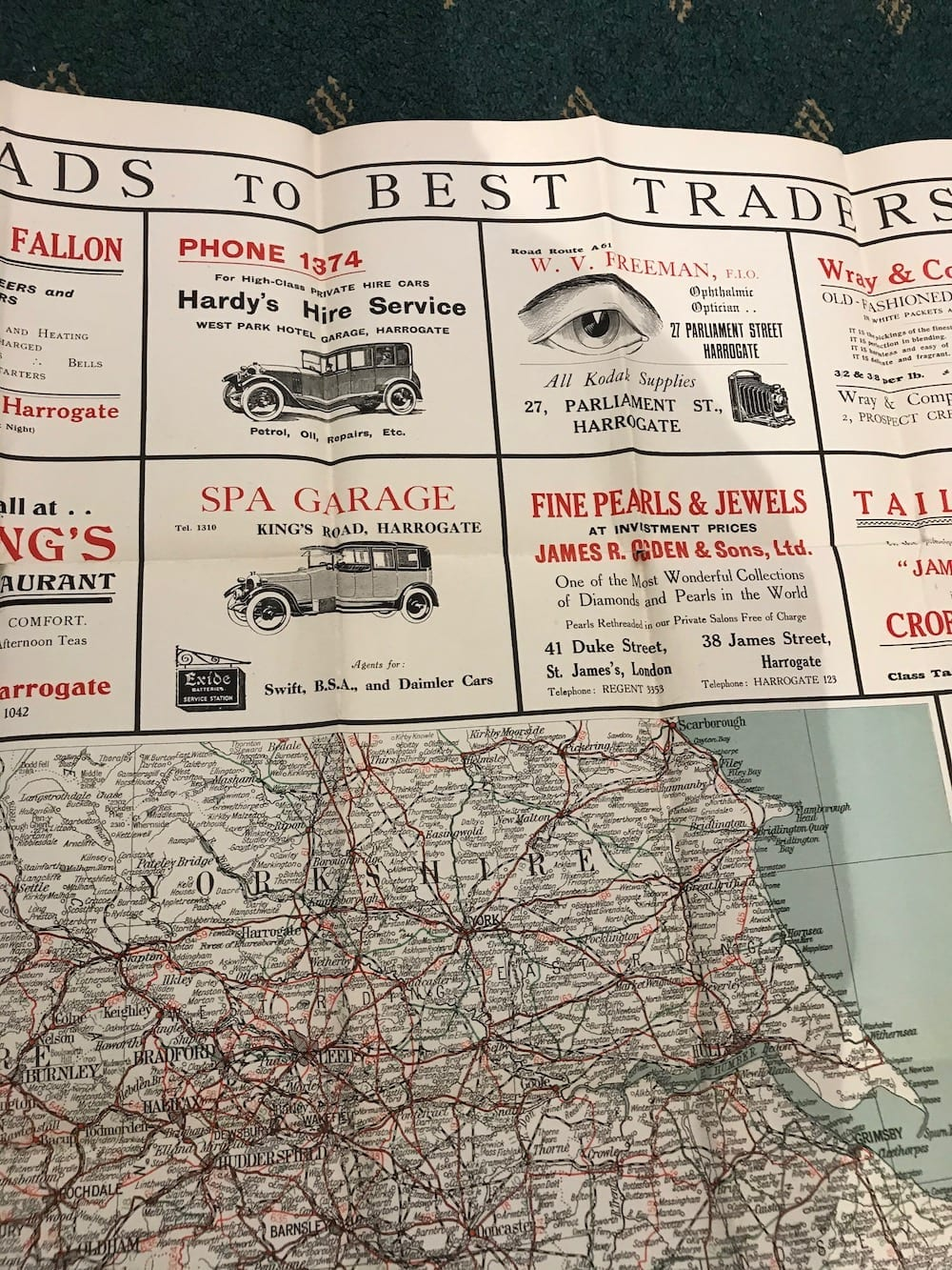 BEST ROADS TO BEST TRADERS ADVERTISING BOOKLET. - Vintage Motoring UK