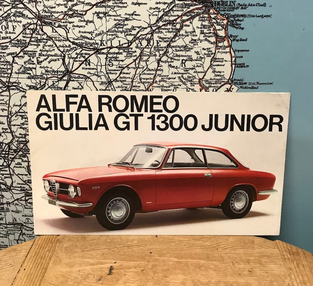 ALFA ROMEO GIULIA GT. 1300 JUNIOR 1967 BROCHURE - Vintage Motoring UK