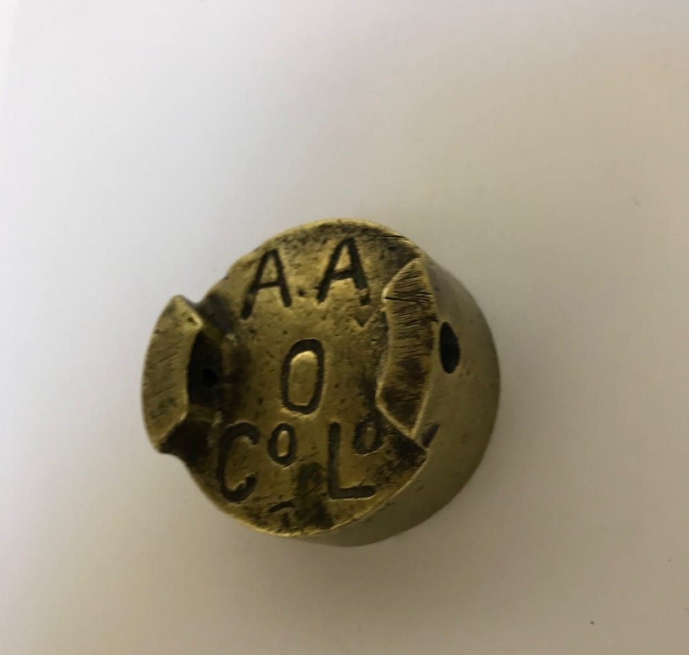 ANGLO AMERICAN OIL COMPANY BRASS PETROL CAP. - Vintage Motoring UK