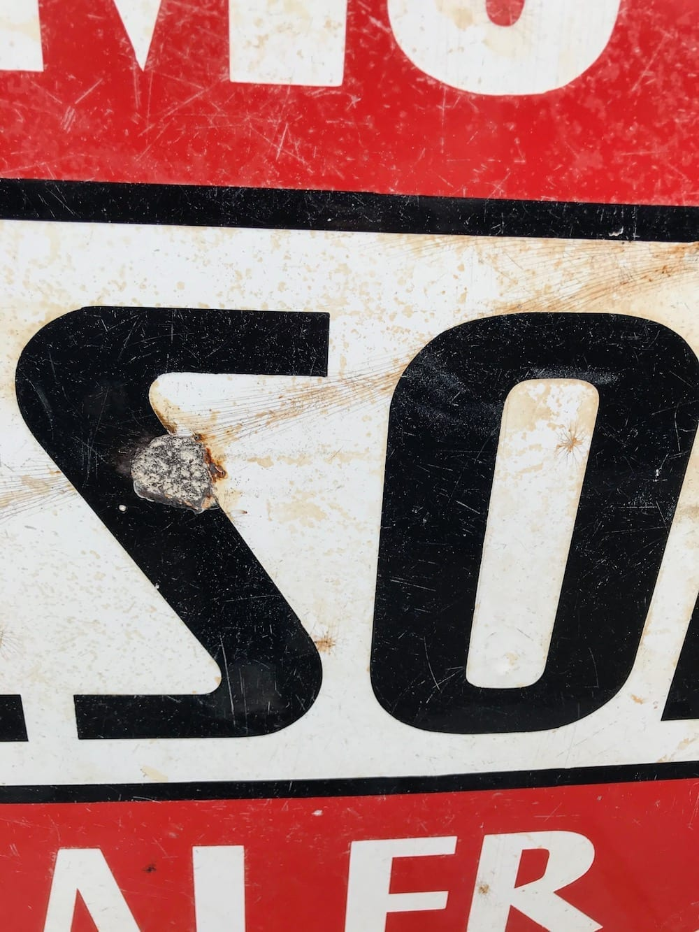 ORIGINAL SIMO TYRESOLES DEALER DOUBLE SIDED ENAMEL SIGN. - Vintage Motoring UK