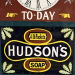 TOP QUALITY ENAMEL HUDSONS CLOCK ON ITS WAY TO NEW CLIENT IN HAMPSHIRE. - Vintage Motoring UK
